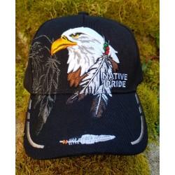 Casquette Native Pride à tête d'aigle