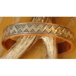 Bracelet navajo en cuivre et argent.