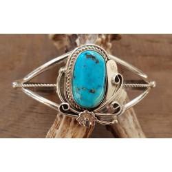 Bracelet navajo en argent et turquoise