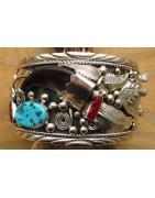 Bracelets indiens en argent pour homme